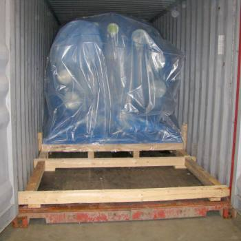 Container accumulation for sea freight